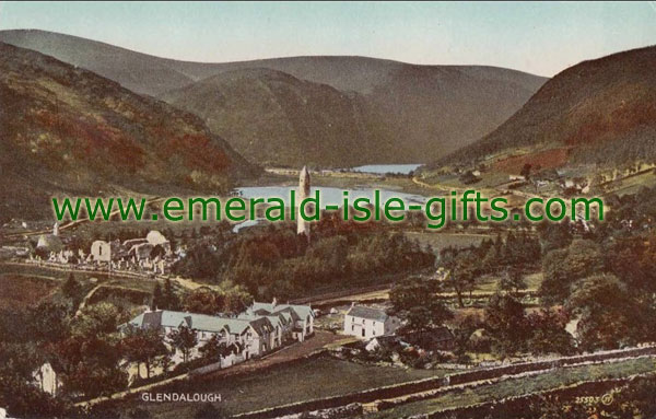 Wicklow - an old colour image of Glendalough
