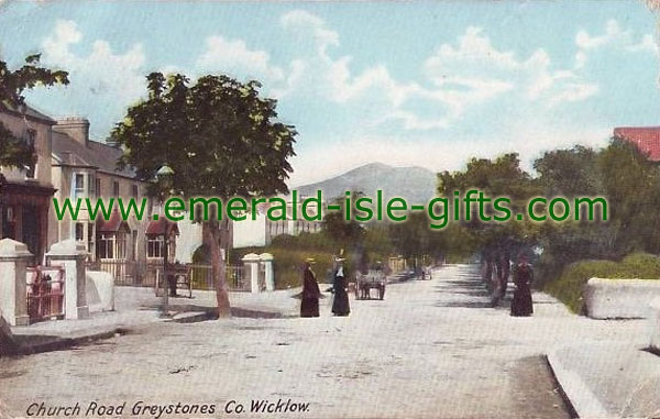 Wicklow - old photo, Church Rd, Greystones