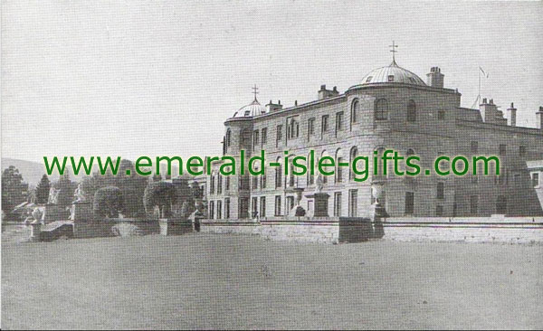 Wicklow - Cose-up old photo of Powerscourt House