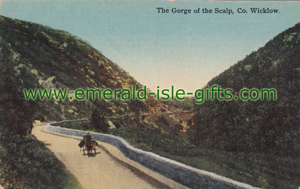 Wicklow - The Gorge of the Scalp - vintage print