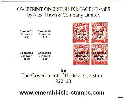 Ireland 1975 Stampa Souvenir Card Thom Overprints