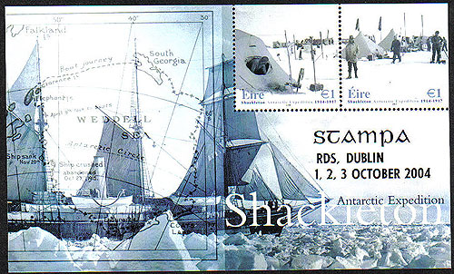 Ireland 2004 Stampa Shackleton Souvenir Sheetlet