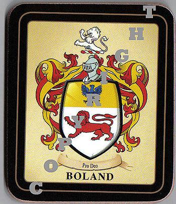 Heraldic products irish family coasters boland family irish heraldic coasters altavistaventures Images