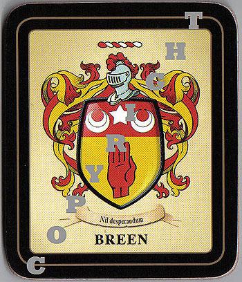 Heraldic products irish family coasters breen family irish heraldic coasters thecheapjerseys Gallery