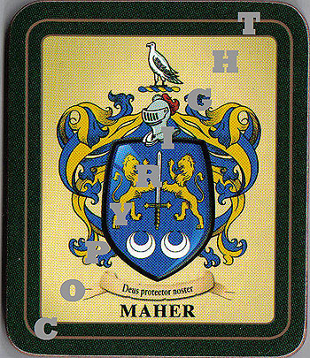 Maher Family Irish Heraldic Coasters
