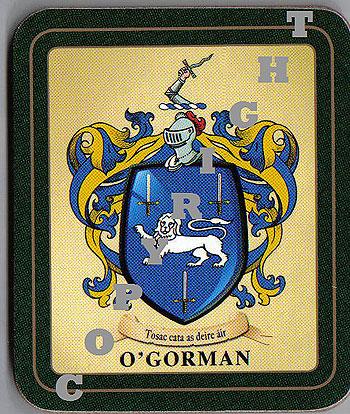 Gorman Irish Coat of Arms Slate Coasters Set of 4