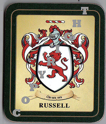Russell Family Irish Heraldic Coasters