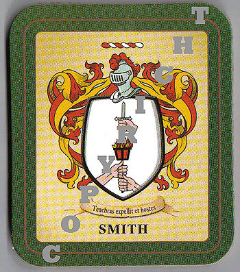 Smith Family Irish Heraldic Coasters (Smith Crest (2 coasters per set))