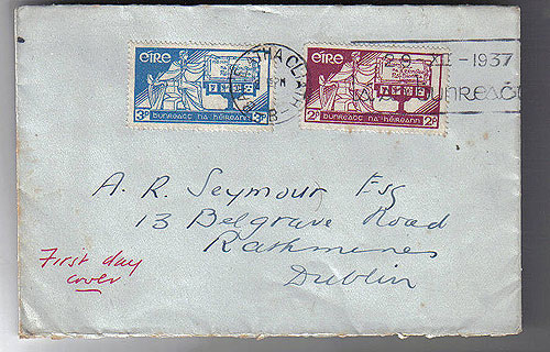 Ireland 1937 Irish Constitution First Day Cover