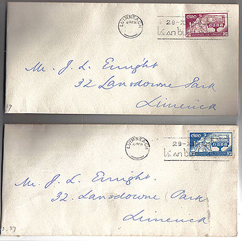 Ireland 1937 Pair First Day Covers Constitution