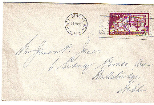 Ireland 1937 Consitution single stamp FDC