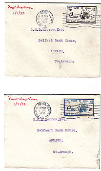 Ireland 1938 Father Matthew Pair Of First Day Covers
