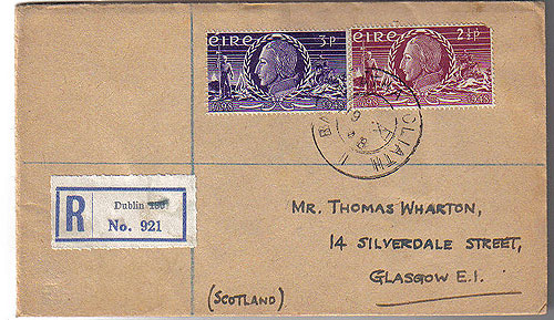 Ireland 1948 Fdc United Irishmen Rising Registered