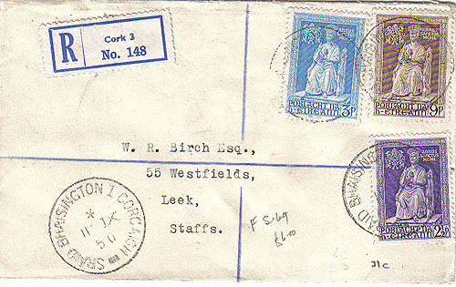 Ireland 1950 FDC Vatican Holy Year