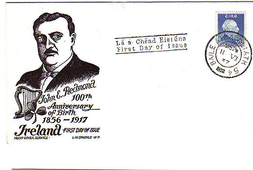 Ireland 1957 FDC Redmond John Staehle First Day Cover