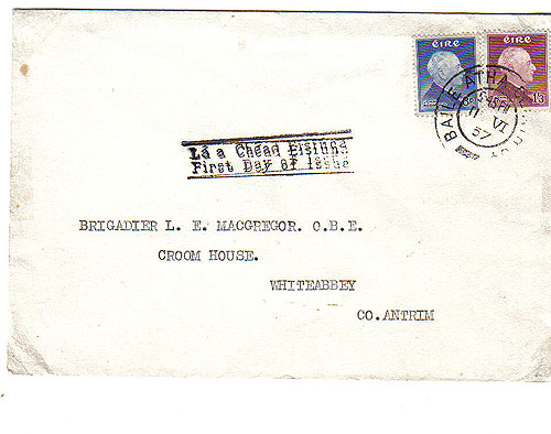 Ireland 1957 FDC John Redmond Staehle First Day Cover