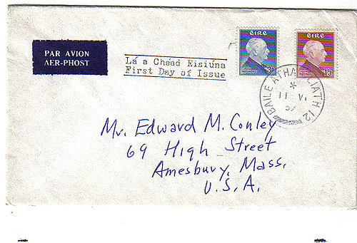 Ireland 1957 FDC John Redmond addressed First Day Cover