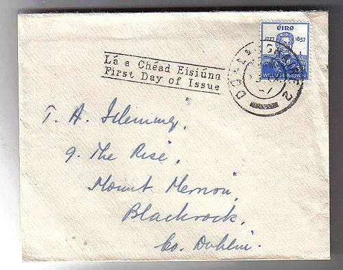 Ireland 1957 Fdc Admiral William Brown First Day Cover