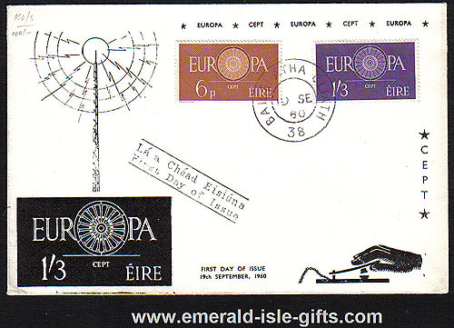 Ireland 1960 Fdc Cept Europa Illustrated Rare