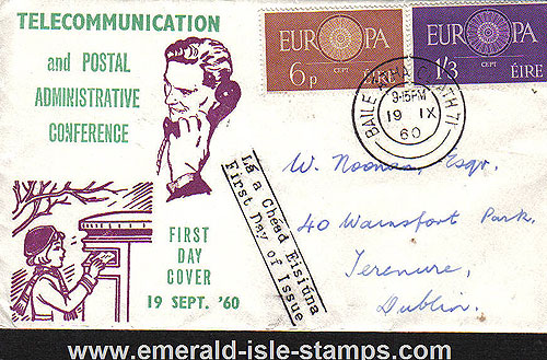 Ireland 1960 Fdc Cept Europa Illustrated (telecomms)