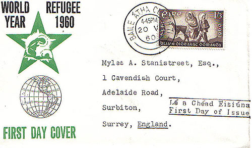 Ireland 1960 Refugee Year illustrated UN