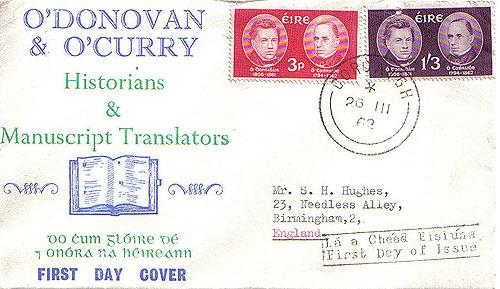 Ireland 1962 Fdc Scholars O