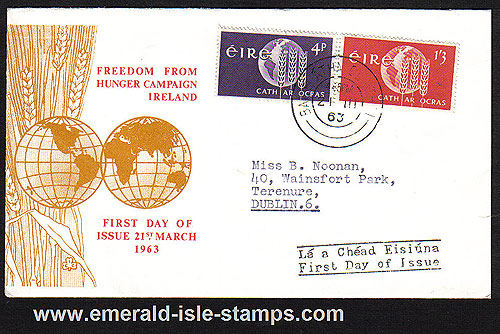 Ireland 1963 Fdc Freedom From Hunger Campaign Illust.