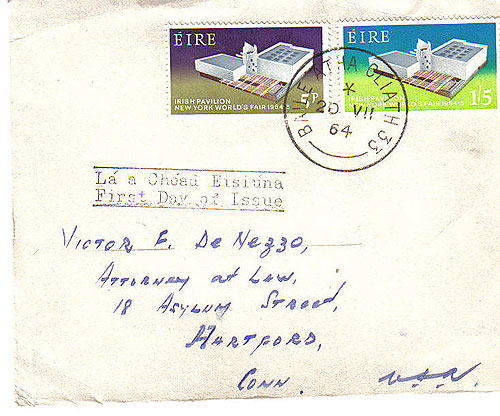 Ireland 1964 Fdc New York World State State Fair