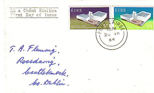 Ireland 1964 Fdc New York Plain