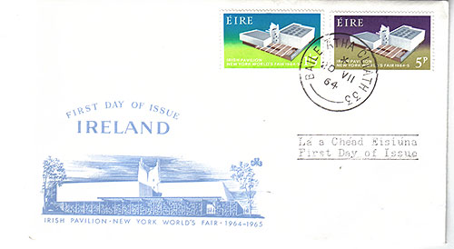 Ireland 1964 Fdc New York World Fair