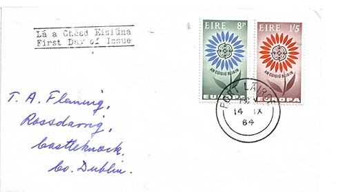 Ireland 1964 Fdc Europa First Day