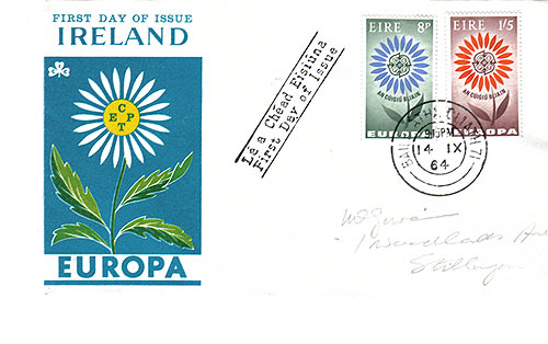 Ireland 1964 FDC Europa Flower Design