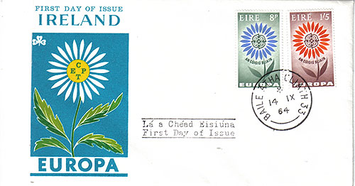 Ireland 1964 FDC Europa First Day Flower