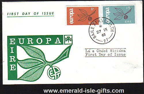 Ireland 1965 FDC Europa Green