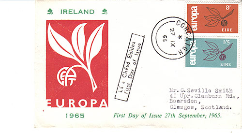 Ireland 1965 FDC Europa CEPT Red
