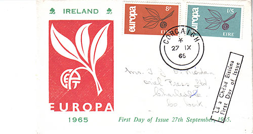Ireland 1965 FDC Europa First Day addressed