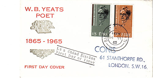 Ireland 1965 FDC Poet Yeats