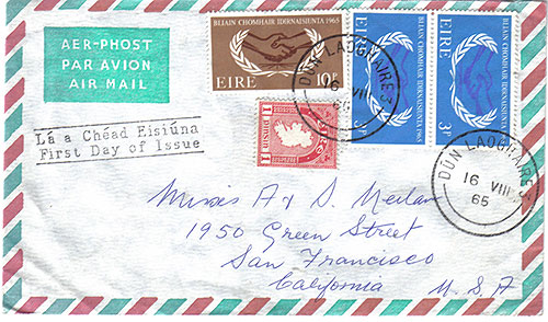 Ireland 1965 FDC Co-Operation Year (greetings)34