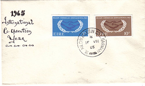 Ireland 1965 FDC Intl Co-operation Plain