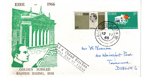 Ireland 1966 FDC Easter Rising handwritten