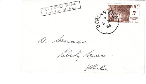 Ireland 1966 FDC low value