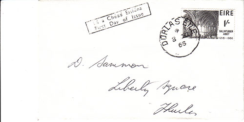 Ireland 1966 FDC high value stamp