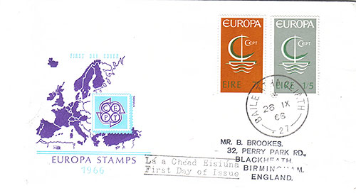 Ireland 1966 FDC Europa CEPT Irish