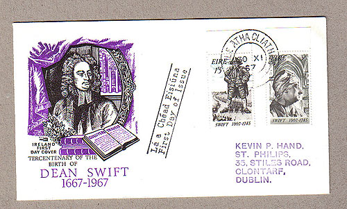Ireland 1967 FDC Dean Swift Philart