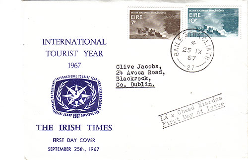 Ireland 1967 FDC International Tourism