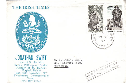 Ireland 1967 Eire FDC Irish Times