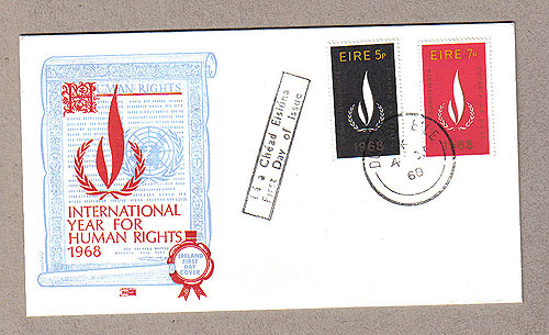 Ireland 1968 FDC UN Human Rights