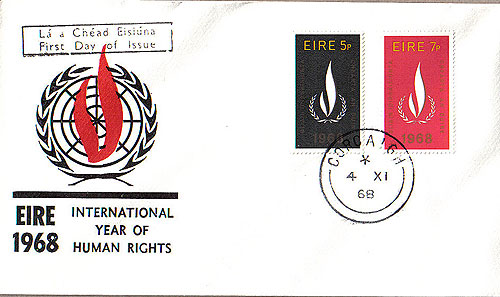 Ireland 1968 FDC Year Of Human Rights