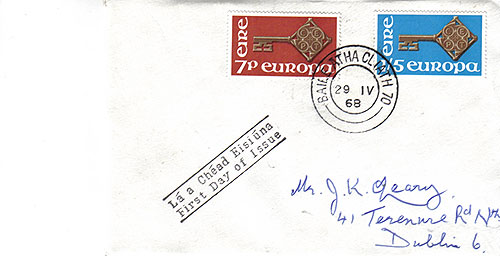 Ireland 1968 FDC CEPT Europa First