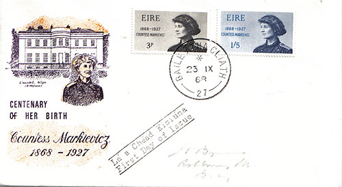 Ireland 1968 FDC Countess Markievicz scarce design